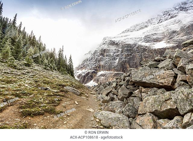 Hiking the Cavell Meadows Trail, Mount Edith Cavell, Jasper National Park, Alberta, Canada