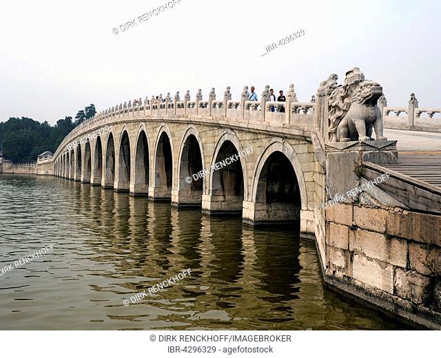 Bridge in the Summer Palace, Yi He Yuan, UNESCO World Heritage Site, Beijing, China