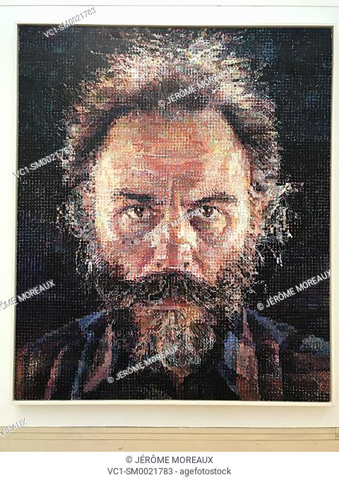 Chuck Close, American, Lucas I, 1986, , Metropolitan Museum of Art. New York City, USA