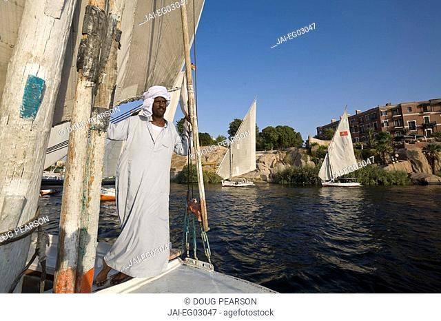 Felucca, River Nile, Aswan, Egypt