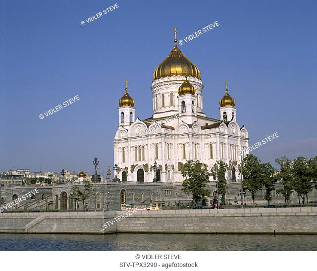 Christ, Church, Holiday, Landmark, Moscow, Moskva, River, Russia, Saviour, The, Tourism, Travel, Vacation