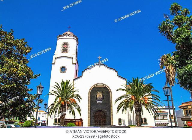 church of San Andres municipality, La Palma island . Canary islands . Spain