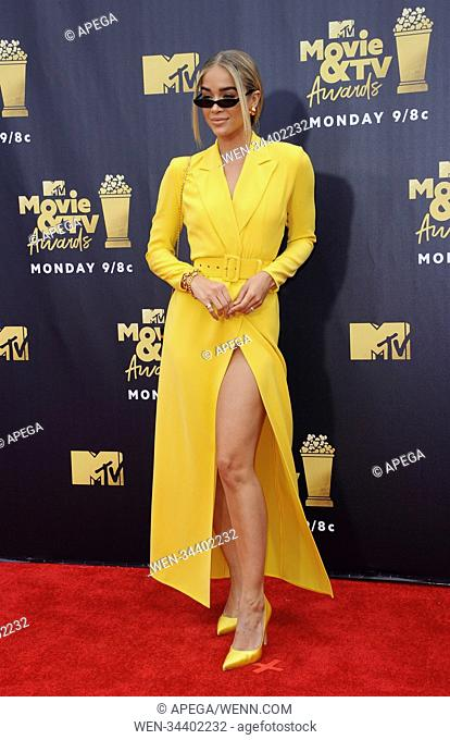 The 2018 MTV Movie and TV Awards Featuring: Jasmine Sanders Where: Los Angeles, California, United States When: 16 Jun 2018 Credit: Apega/WENN.com