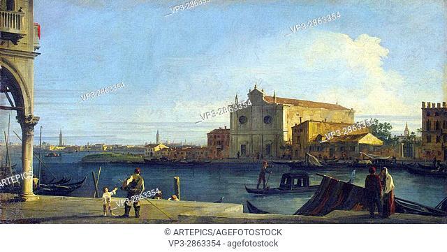 Canaletto . Venice, San Giovanni dei Battuti a Murano. Hermitage State Museum - St Pétersburg