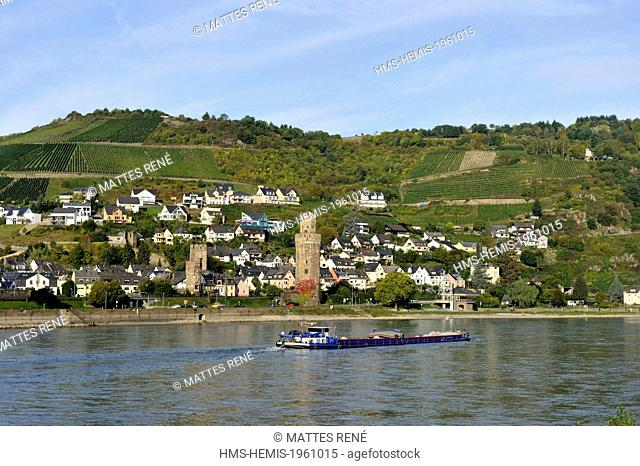 Germany, Rhineland Palatinate, Oberwesel, the romantic Rhine listed as World Heritage by UNESCO
