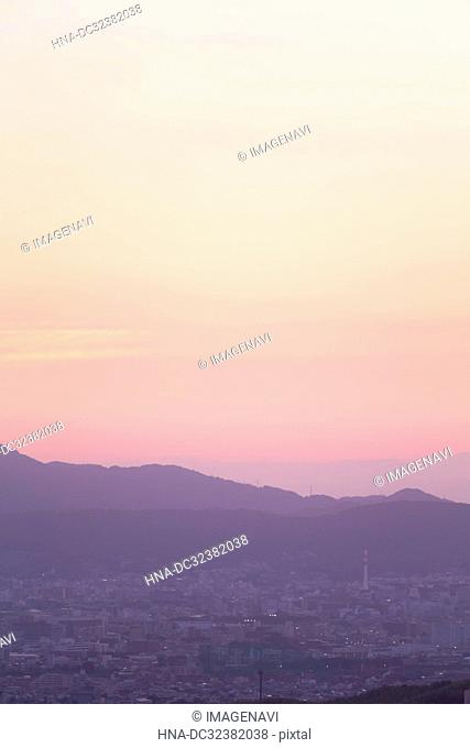 Kyoto in Morning Glow, Kyoto Prefecture, Japan