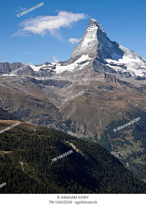 The Matterhorn from Sunegga, Valais, Switzerland
