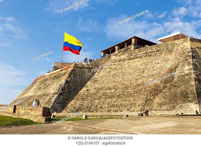 San Felipe of Barajas Castle, Cartagena, Bolivar, Colombia