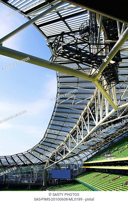 Low angle view of a stadium, Aviva Stadium, Dublin, Republic of Ireland