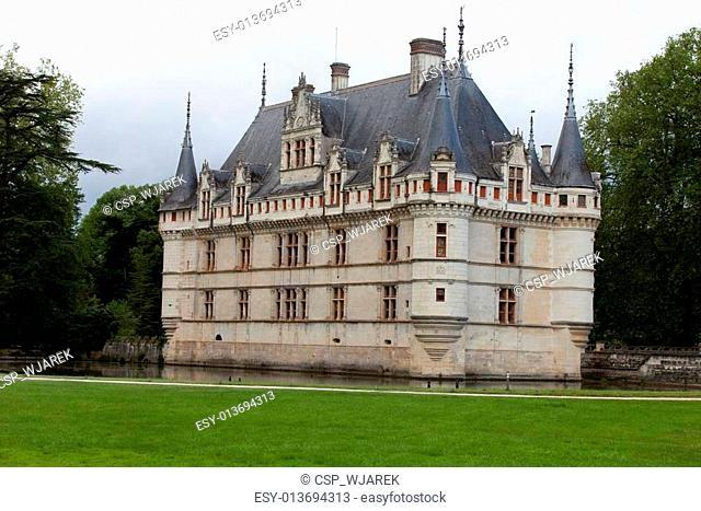Azay-le-Rideau castle in the Loire Valley, France