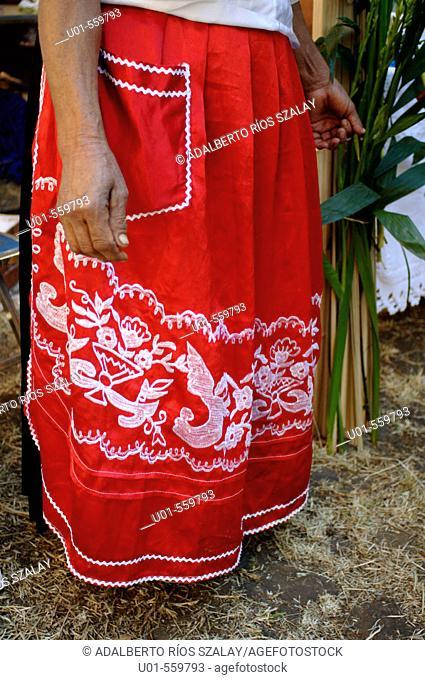 Purepecha Apron or Pinafore Michoacan Mexico