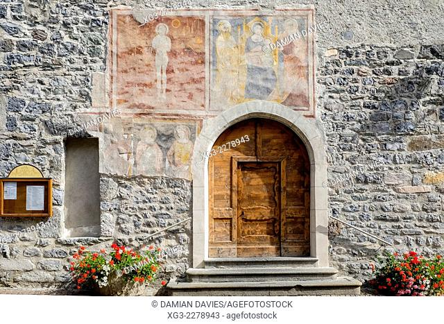 The church of San Vitale in the centre of Bormio, Lombardy, Italy