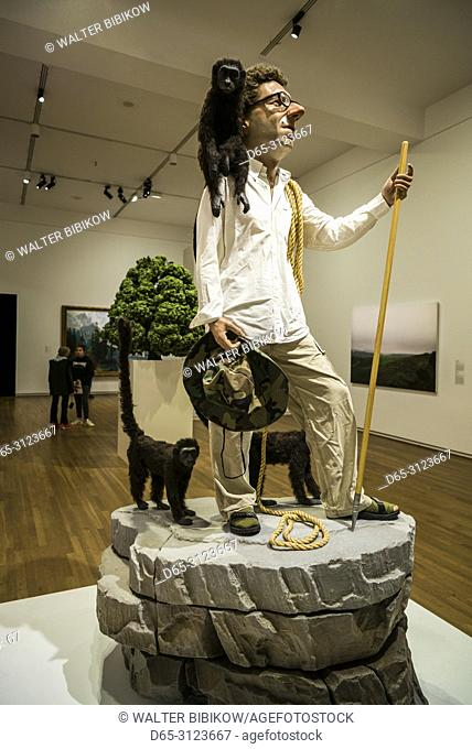 Canada, Quebec, Montreal, Musee des Beaux Arts, fine arts museum, The Wanderer, sculpture by Tony Mateli, 2002