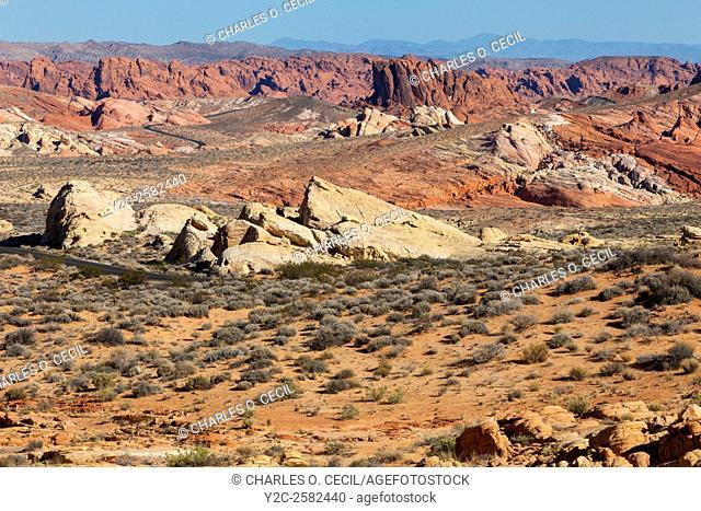 Valley of Fire, Nevada. Rainbow Vista