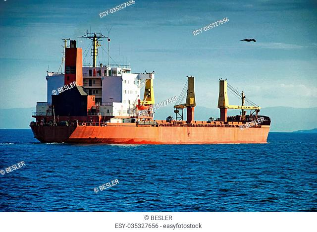 Cargo ship in the Bosporus
