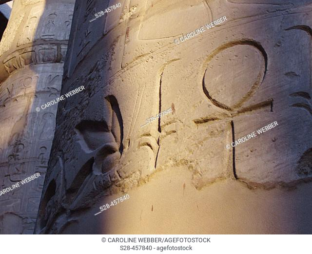 Sign of life in sunlight, Karnak Temple, Egypt