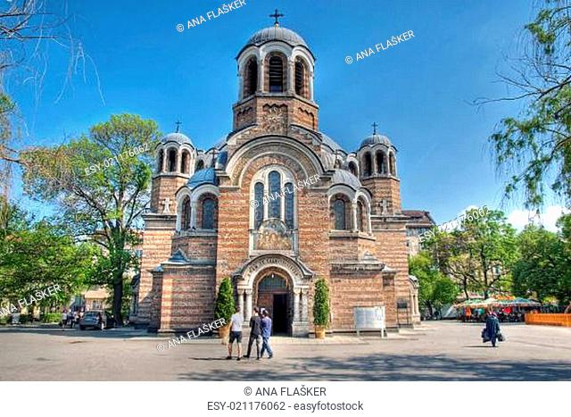 Sveti Sedmochislenitsi church in Sofia, Bulgaria, HDR image
