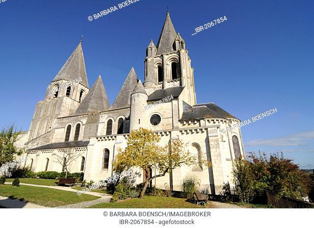 Saint-Ours Church, castle hill, Loches, community, Tours, Indre-et-Loire, Centre region, France, Europe
