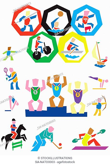 sport,colorful,variety,olympic games