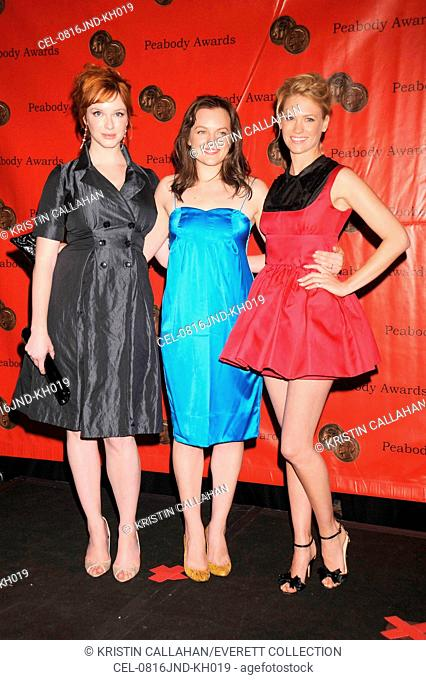 Christina Hendricks, Elisabeth Moss, January Jones at arrivals for 67th Annual George Foster Peabody Awards, Waldorf-Astoria Hotel, New York, NY, June 16, 2008