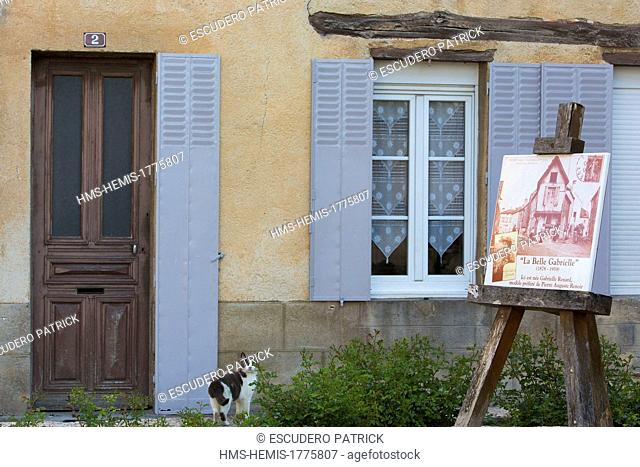 France, Aube, Cote des Bar, Essoyes, native place of Aline Victorine Charigot Auguste Renoir's wife where the painter lived until his death