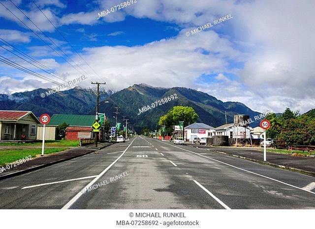 Fox village, South Island, New Zealand