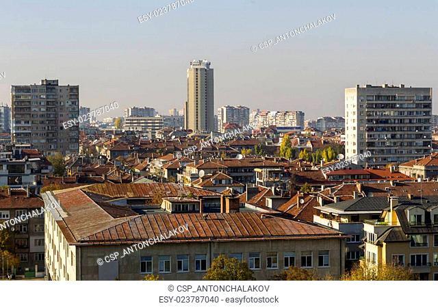 Sofia Bulgaria High Angle View