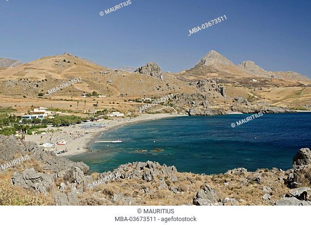 Greece, Crete, beach bay of Damnóni