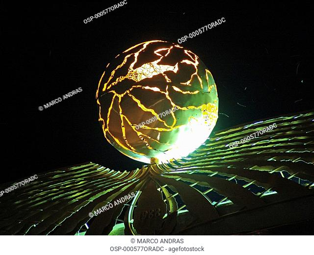 a lighted globe object from palmas