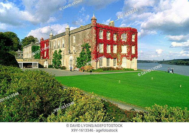 Plas Newydd mansion country house on Anglesey overlooking Menai Straits near Bangor, Gwynedd, north Wales, UK