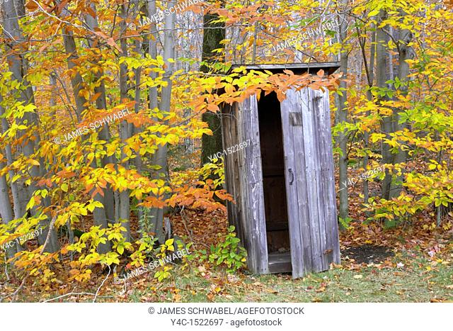 Outhouses in the Adirondack Mountains, New York, United States
