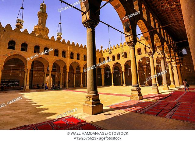 Mosque of Al-Nasir Muhammad ibn Qala'un at the Citadel in Cairo, Egypt