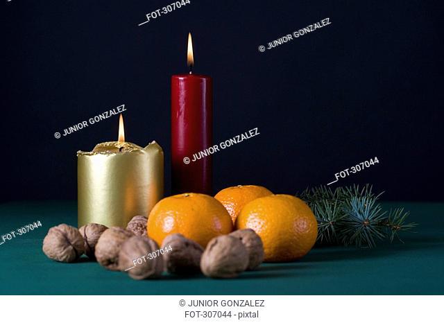 A Christmas display