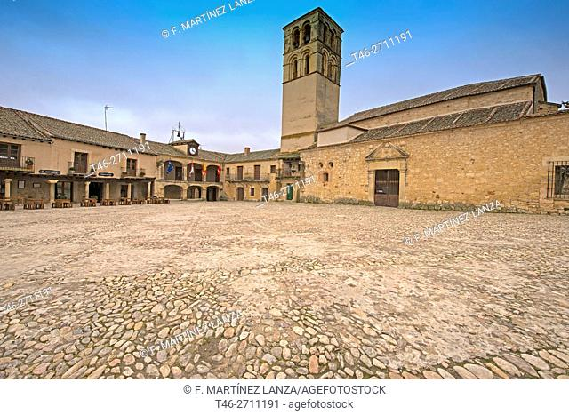 Plaza Mayor, Pedraza, Segovia province, Spain
