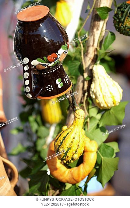 Traditional Harvest festival decorations - Gyor Hungary