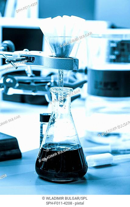 Chemistry experiment in the laboratory