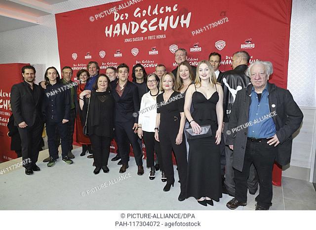 Andy Grote, Wilfried Geike, Jonas Dassler, Fatih Akin, Nurhan Sekerci-Porst, Maria Koepf, Herman Weigel on the gray carpet at the Hamburg premiere of the cinema...