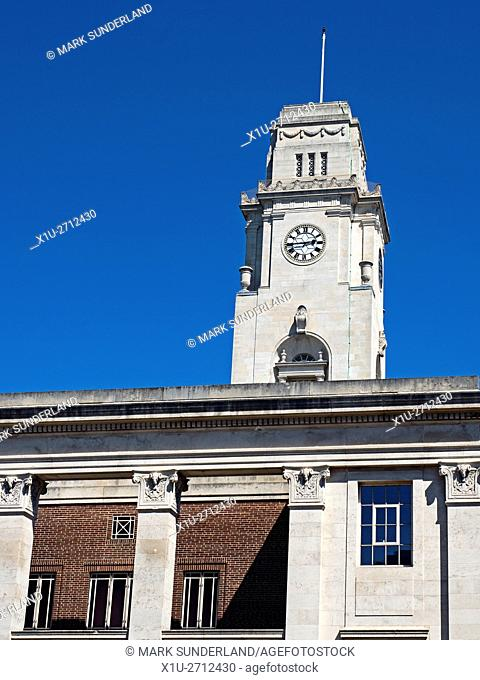 Clock Tower at Barnsley Town Hall Barnsley South Yorkshire England