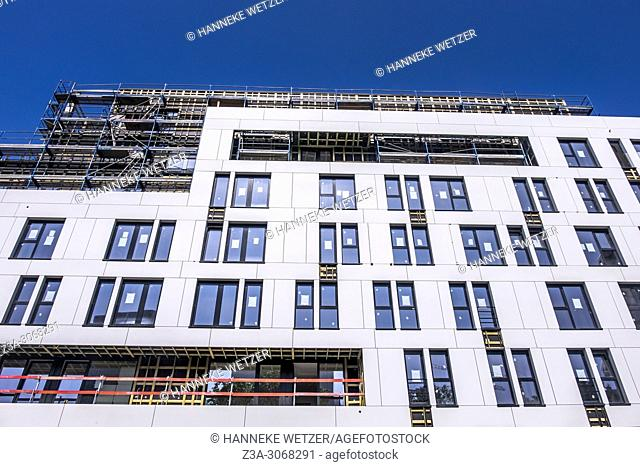 Student housing under construction, Brussels, Belgium, Europe