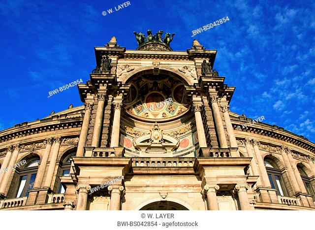 the Semper Opera House in Dresden, Germany, Saxony, Dresden