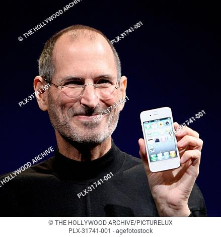 Steve Jobs shows off the white iPhone 4 at the 2010 Worldwide Developers Conference. June 8, 2010