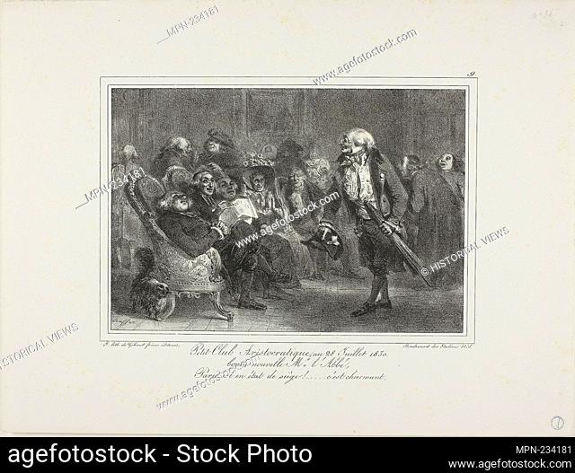 Little Aristocratic Club, July 28, 1830 - 1831 - Denis Auguste Marie Raffet (French, 1804-1860) printed by Chez Gihaut Frères (French