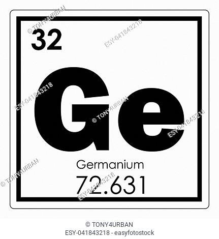 Germanium chemical element periodic table science symbol