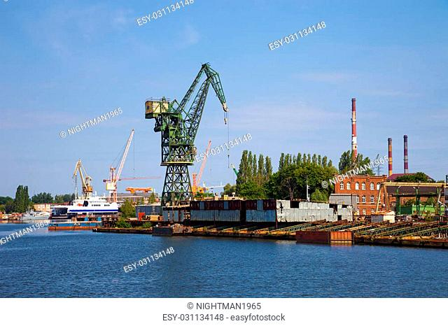 Industrial zone - old abandoned shipyard