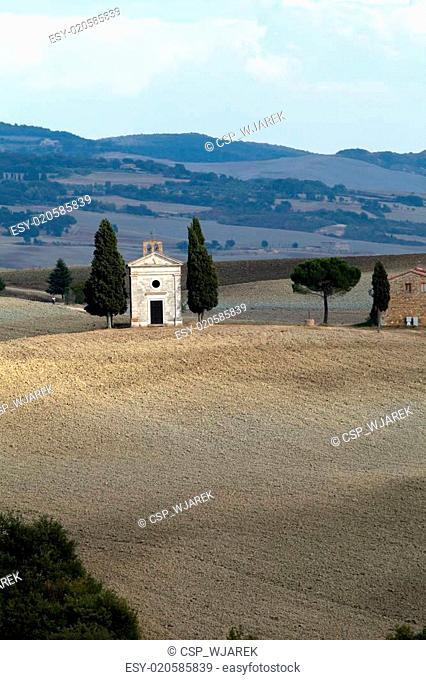 Cappella di Vitaleta , Val d'Orcia in Tuscany