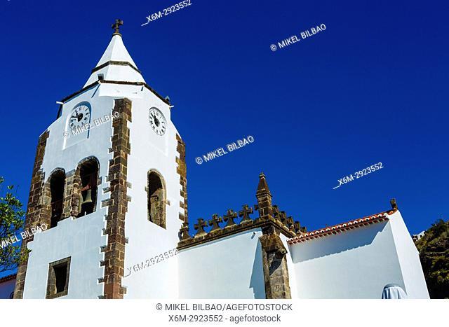 Sao Salvador church. Santa Cruz. Madeira, Portugal, Europe