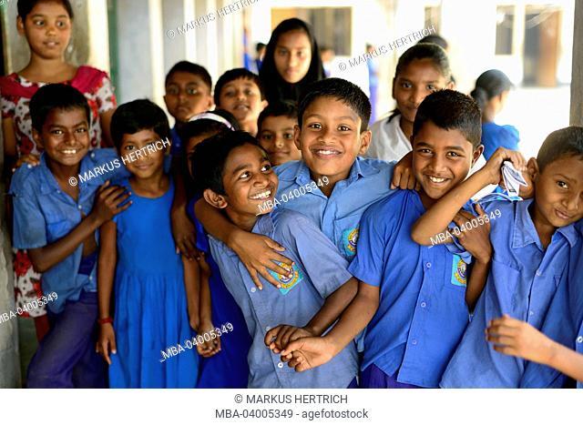 School in Munshiganji, Bangladesh, Asia