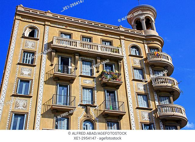 Casa Antònia Serra i Mas of Ramon Puig i Gairalt, 1926, Poble Nou, Barcelona, Catalonia, Spain