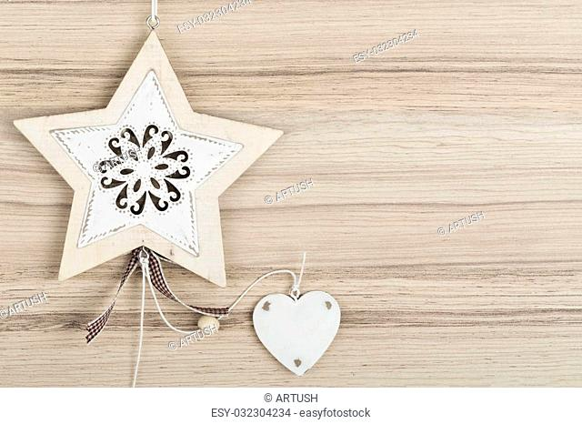 valentine's hearts on a wooden background , valentine's day, day valentine postcard with space for text