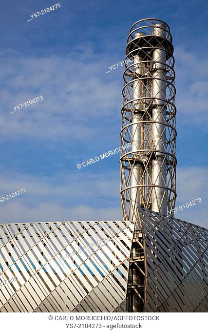 Iren district heating power plant in Turin, Piedmont, Italy, Europe